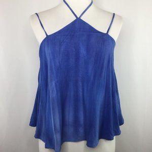 ❤️3/$25 CAD blue sleeveless crop top